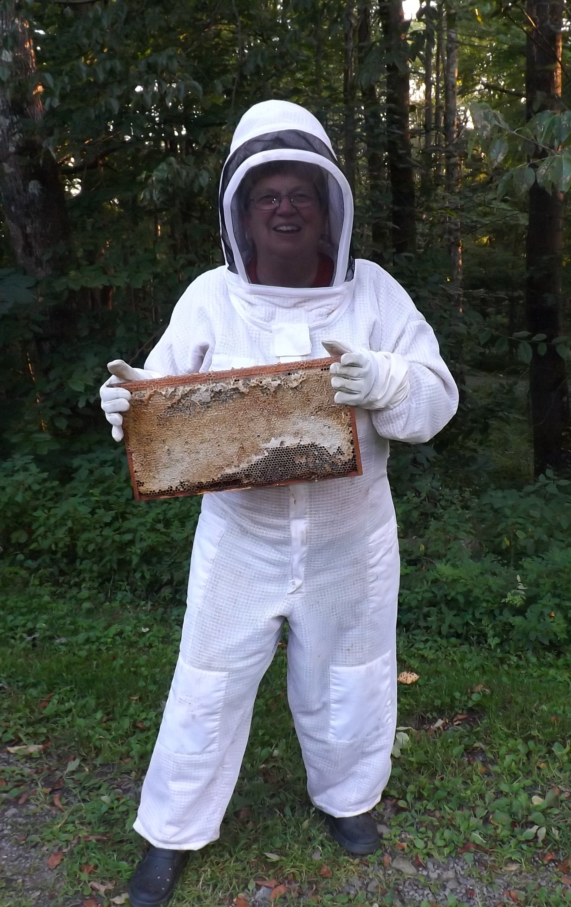 S. Jeanne in her bee suit